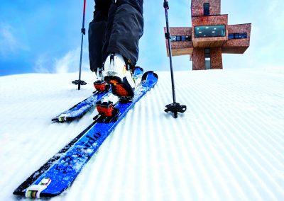 Tourengehen im Winter auf der Buchensteinwand